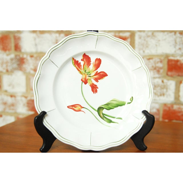 "Set of 66 French Luneville Hand-Painted Floral Dining Plates ""Rovina Epinal"" - Image 9 of 11"