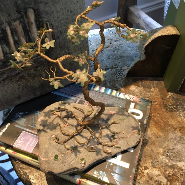 Vintage Hand Wired Tree on Stone - Image 6 of 6