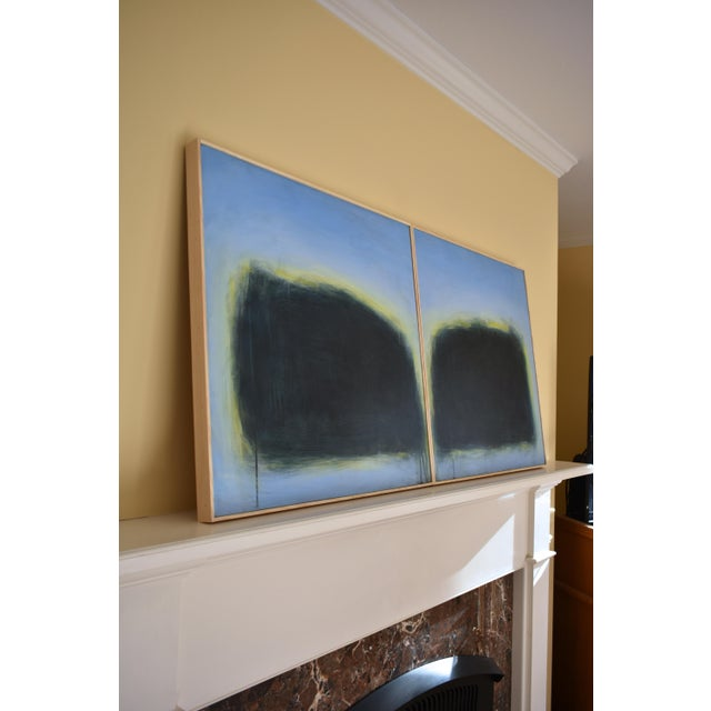 "Modern ""Touch, Summer Morning"" Abstract Diptych by Stephen Remick For Sale - Image 11 of 13"