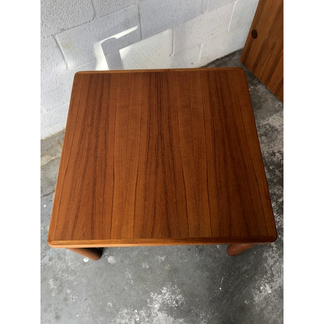Brown Vintage Mid Century Danish Modern Teak Side Table by Trioh Mobler Denmark For Sale - Image 8 of 11
