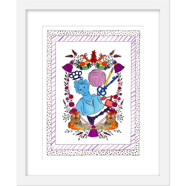 """Contemporary Medium """"'She Who Leads' Heraldry"""" Print by Rachel Rogers, 17"""" X 21"""" For Sale - Image 3 of 3"""