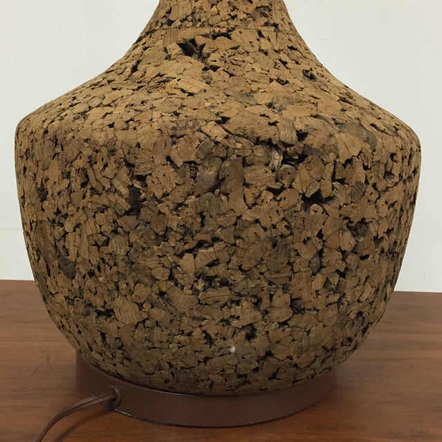 Mid-Century Cork Table Lamp - Image 5 of 8