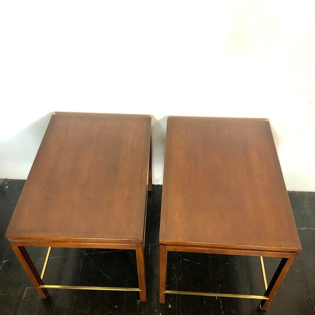 1960s Edward Wormley Dunbar Side Tables - a Pair For Sale - Image 5 of 12