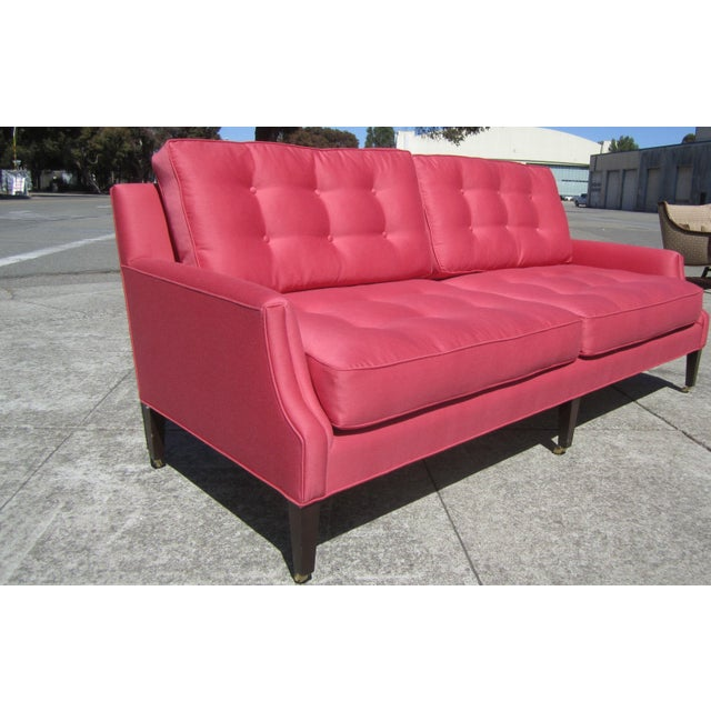 Mid-Century Modern Linen Sofa from Aileen Getty Collection For Sale - Image 3 of 7