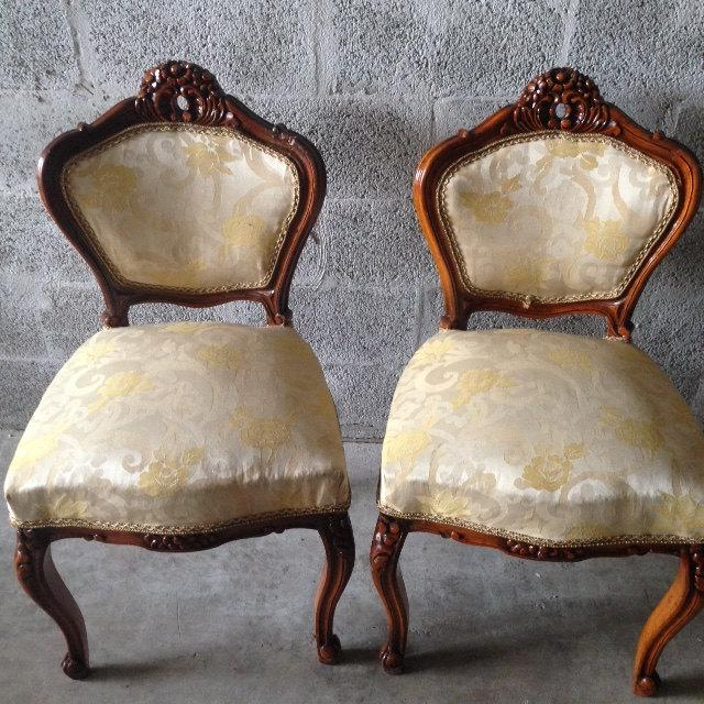 French Louis XVI Style Chairs - a Pair For Sale - Image 5 of 8