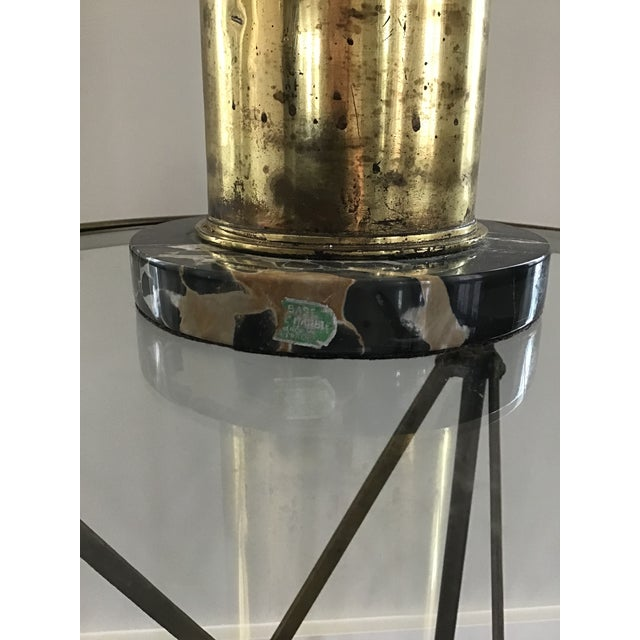 Brass Trench Art Artillary Shell Brass Lamp For Sale - Image 8 of 11
