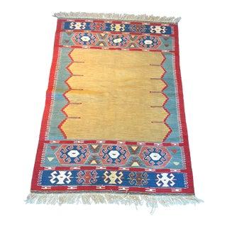 Vintage Turkish Oushak Kilim Rug