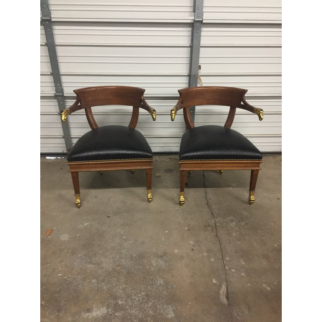William Switzer Federalist Style Eagle Arm Armchairs - a Pair - Image 2 of 10