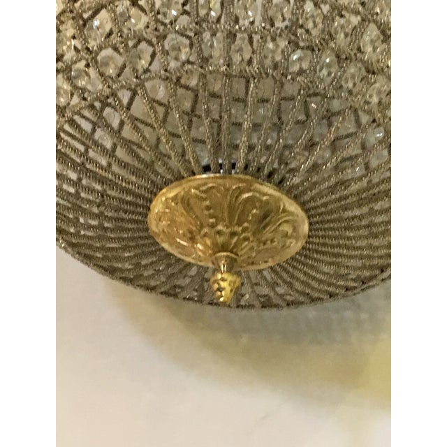 Globe Pendant Chandeliers - A Pair For Sale - Image 9 of 10