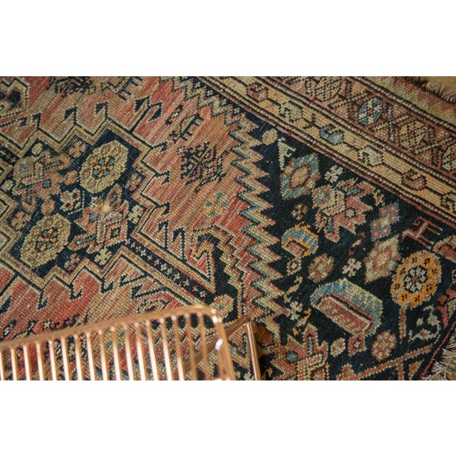 """Antique Tattered Malayer Square Rug - 3'5"""" x 4'3"""" - Image 5 of 10"""