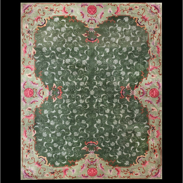 Antique Chinese Art Deco Rug For Sale - Image 9 of 9