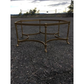 Labarge Brass Hooved Hexagonal Glass Coffee Table Preview
