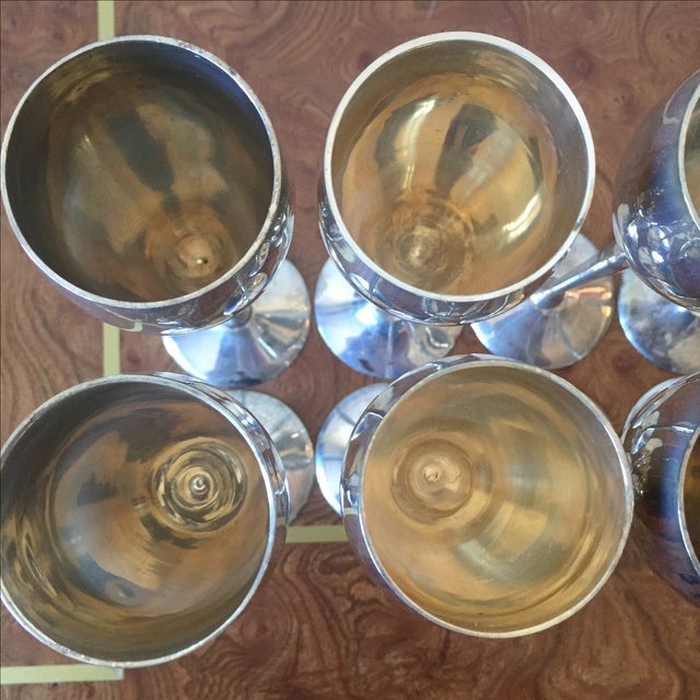 Silver Plated Goblets Flutes Glasses - 8 - Image 5 of 9