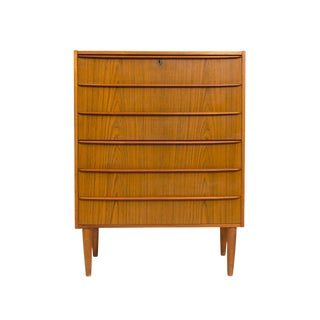 Vintage Danish Mid-Century Seven Drawer Tallboy For Sale