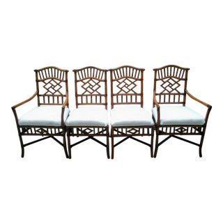 Vintage Bamboo Dining Chairs- Set of 4