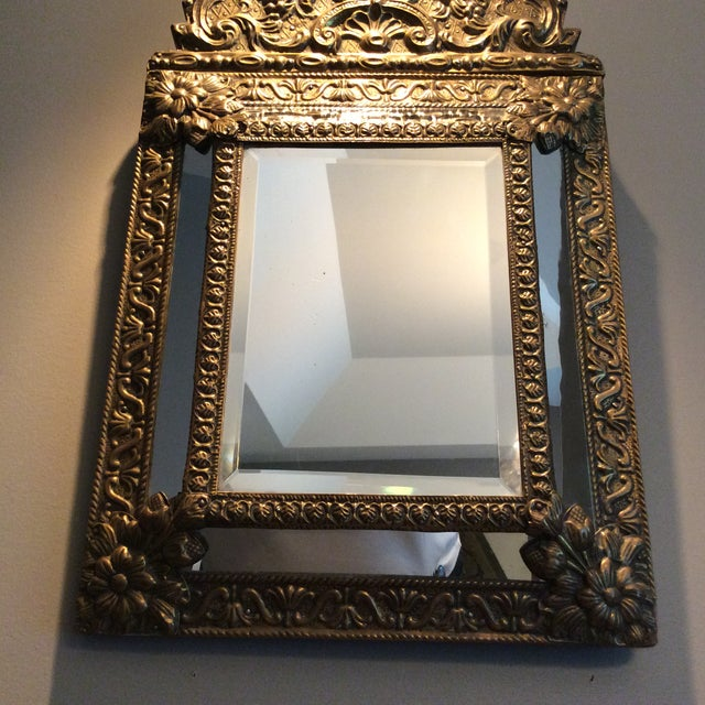 Antique Flemish Repousse Mirror For Sale In Columbus - Image 6 of 10