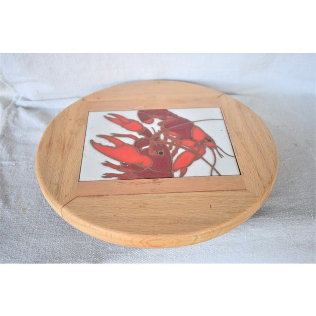 Vintage Lazy Susan Crawfish Serving Tray For Sale In New Orleans - Image 6 of 6