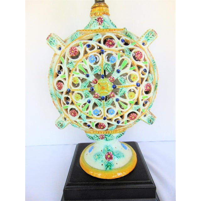 Italian Pottery Vase Lamp - Image 3 of 4