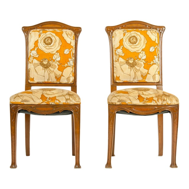 Vintage Louis Majorelle Side Chair - a Pair For Sale