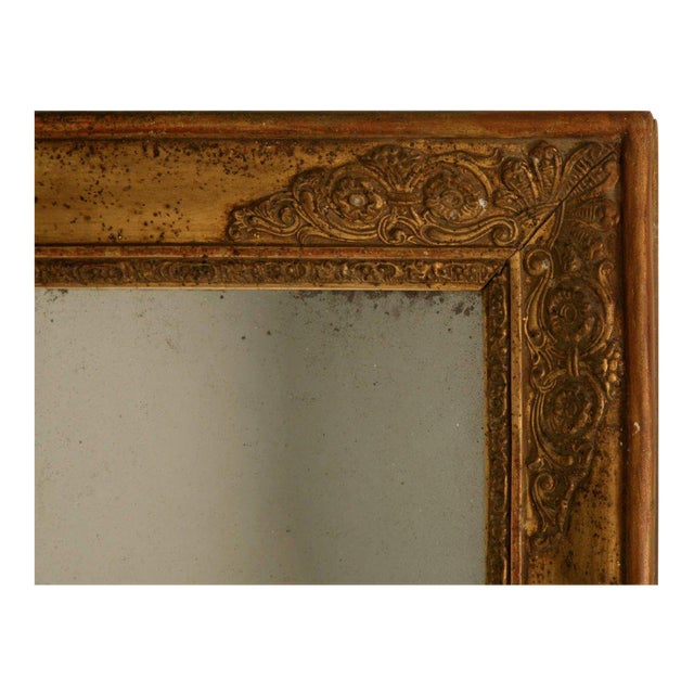 Amazing original 18th century French gilded frame and sugared mirror that has never been restored or repaired. Quite...