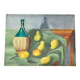 Vintage Original Still Life Painting a in Moody Color Palette For Sale