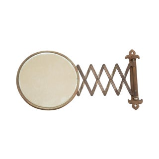 Vintage Fleur De Lis Extendable Accordion Mirror
