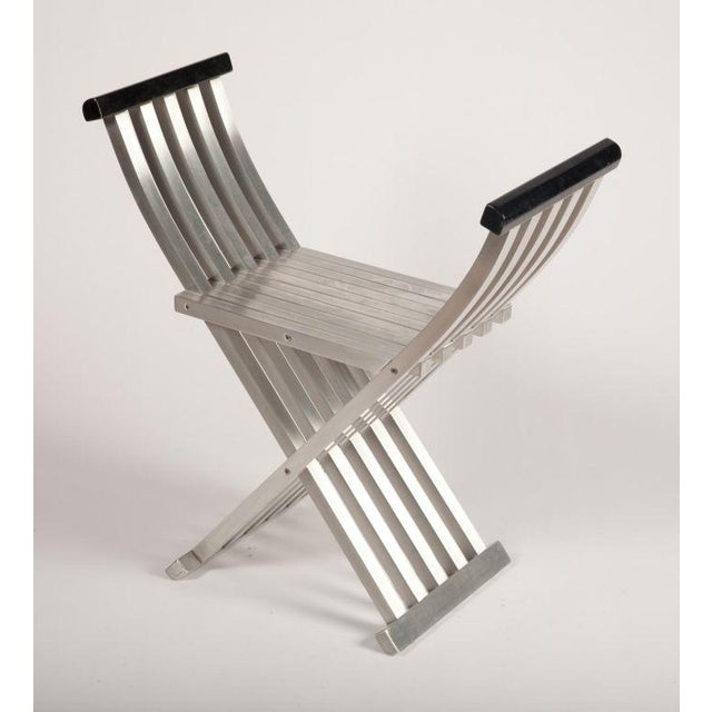 Lacquer Pair of Aluminum Folding Benches by John Vesey For Sale - Image 7 of 7
