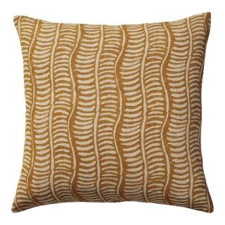 """OKA 20"""" Square Pattani Eclipse Pillow in Yellow"""