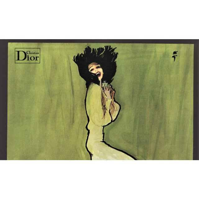 This is an original vintage advertising print for Christian Dior's Diorella parfum that appeared in a 1972 French...