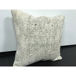 Turkish White Anatolian Handmade Wool Pillow Preview