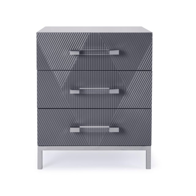 Design and functionality meet in Firenze side Table with the Three Drawers.This Side Table can be used to as an end table...