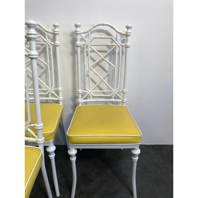 1960s Vintage Kessler for Thomasville Iron Bamboo Chairs - Set of Six For Sale - Image 10 of 12