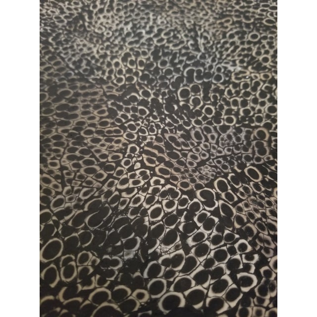 1970s Shell Textured Ottoman / Stool For Sale - Image 5 of 9