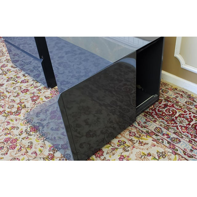 Gray 2 Canadian Rougier Streamlined Contemporary Lacquered Table Cabinets For Sale - Image 8 of 12