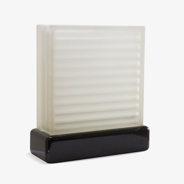 Art Deco Art-Deco Frosted Glass Accent Light For Sale - Image 3 of 5