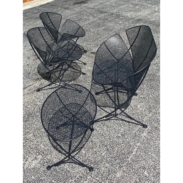 Mid 20th Century Midcentury Salterini Clamshell Patio Set For Sale - Image 5 of 12