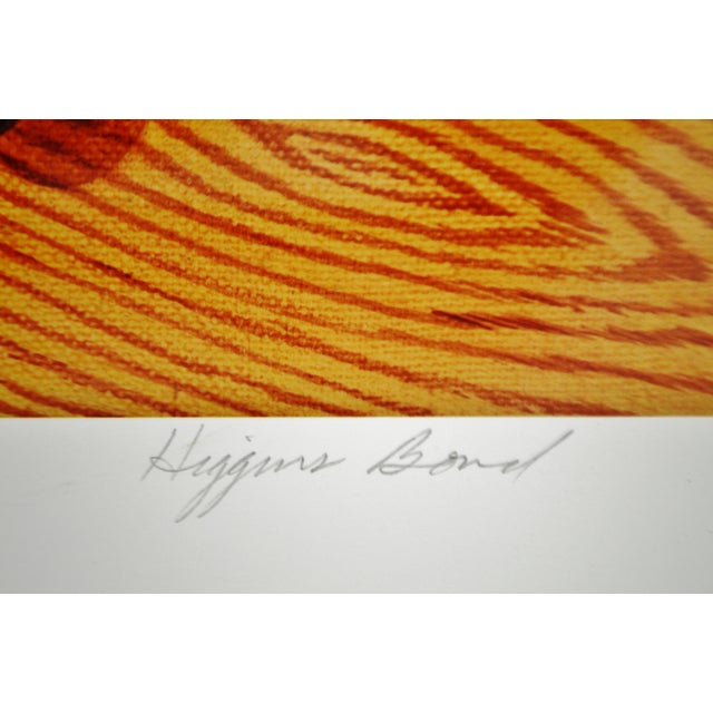 Vintage Signed Barbara Higgins Bond Sunday Brunch Limited Edition Textured Lithograph For Sale In Philadelphia - Image 6 of 13