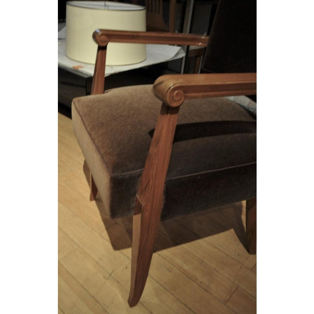 Maxime Old Pair of Refined Solid Walnut Armchairs For Sale - Image 6 of 9