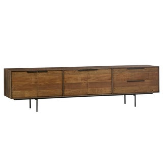 Wood & Iron Modern Media Cabinet