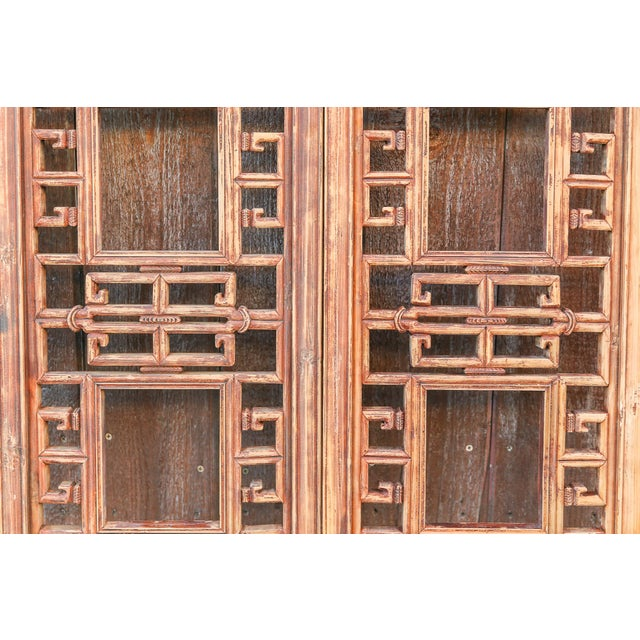 Vintage Asian Lattice Carved Window Panels, Set of Two For Sale In Los Angeles - Image 6 of 9