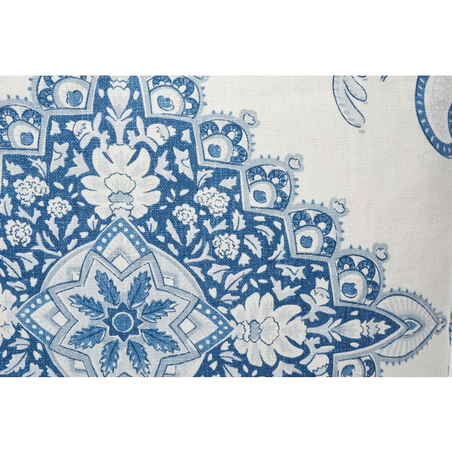 Schumacher Schumacher Double-Sided Pillow in Montecito Medallion Linen Print For Sale - Image 4 of 7