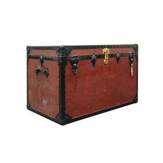 20th Century Early American Travel Trunk Props Trunk For Sale