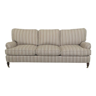 William Ferrell English Rolled Arm Upholstered Sofa For Sale