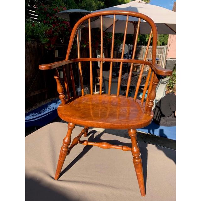 1950s Vintage Original Leopold Stickley Rockport Windsor Armchair For Sale - Image 12 of 13