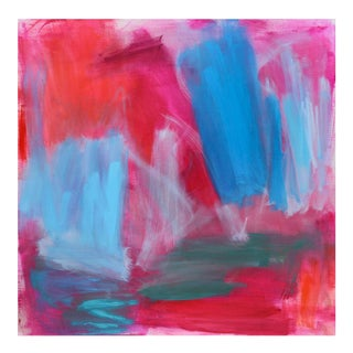 """""""Red Cloud"""" by Trixie Pitts Large Abstract Expressionist Oil Painting For Sale"""