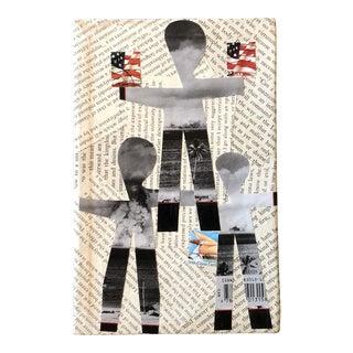 "Original Contemporary Wayne Cunningham Small ""Hands Across America"" Collage For Sale"