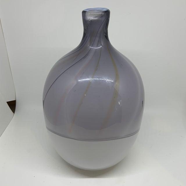 Late 20th Century Kosta Boda Bengt Edenfalk Art Glass Vase For Sale - Image 5 of 8