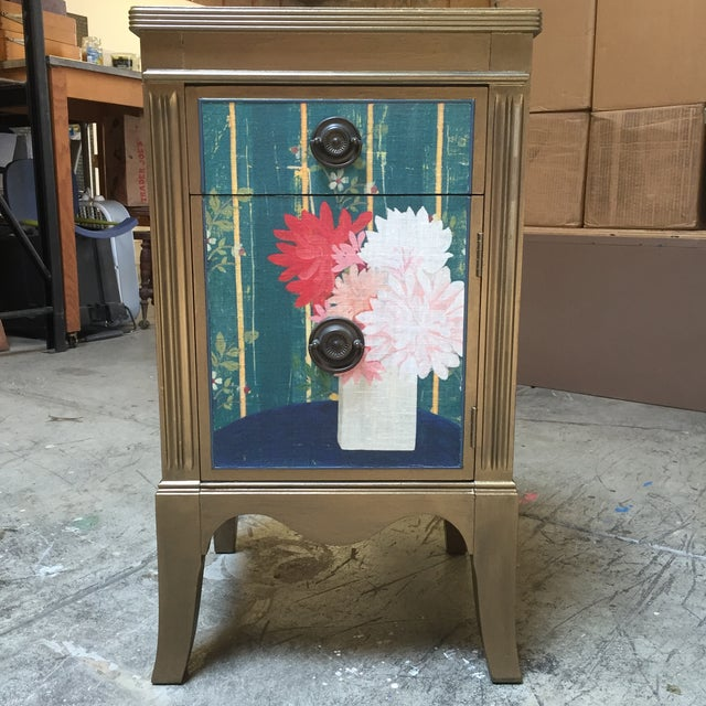 This flea market side table caught the Seller's eye. So perfect in scale and detail! She took it home and painted the...