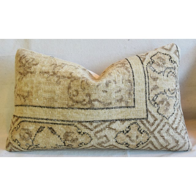 """Antique Soumak Carpet Wool Feather/Down Pillows 26"""" X 16"""" - Pair For Sale In Los Angeles - Image 6 of 13"""