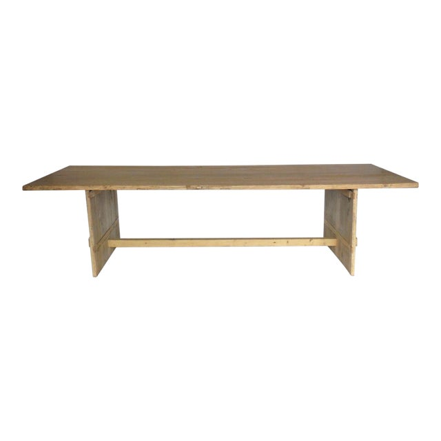 Long Elm Dining Table For Sale